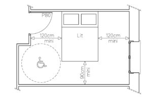 les normes d accessibilit aux personnes mobilit r duite pmr d 39 encre d 39 id es. Black Bedroom Furniture Sets. Home Design Ideas